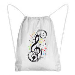 Рюкзак-мешок Скрипичный ключ - FatLine