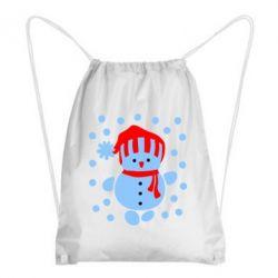 Рюкзак-мешок Снеговик в шапке - FatLine