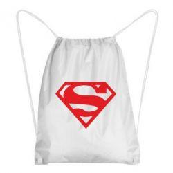 Рюкзак-мешок Superman одноцветный - FatLine