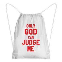 Рюкзак-мішок Тільки Бог може судити мене