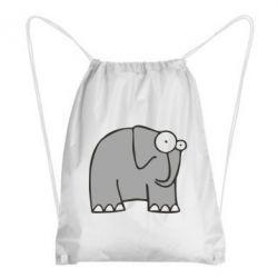 Рюкзак-мешок удивленный слон - FatLine