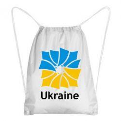 Рюкзак-мешок Ukraine квадратний прапор - FatLine