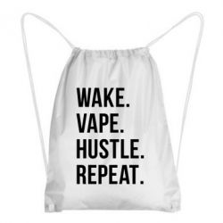 Рюкзак-мешок Wake.Vape.Hustle.Repeat.
