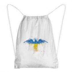 Рюкзак-мешок Жовто-блакитний птах - FatLine