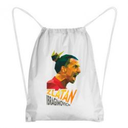Рюкзак-мешок Златан Ибрагимович, полигональный портрет