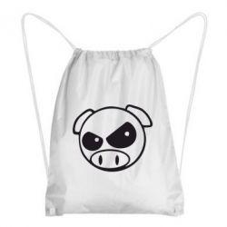Рюкзак-мешок Злая свинка - FatLine
