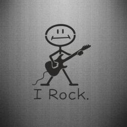 Наклейка З гітарою - FatLine