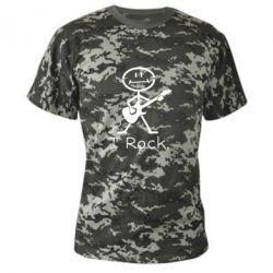 Камуфляжна футболка З гітарою - FatLine