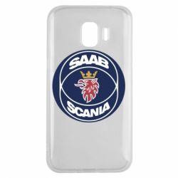 Чехол для Samsung J2 2018 SAAB Scania