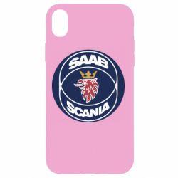 Чехол для iPhone XR SAAB Scania