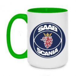 Кружка двухцветная 420ml SAAB Scania