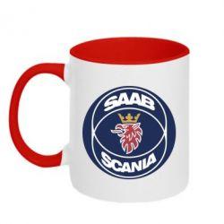 Кружка двухцветная 320ml SAAB Scania