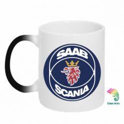 Кружка-хамелеон SAAB Scania