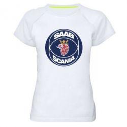 Женская спортивная футболка SAAB Scania