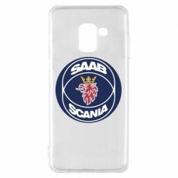 Чехол для Samsung A8 2018 SAAB Scania