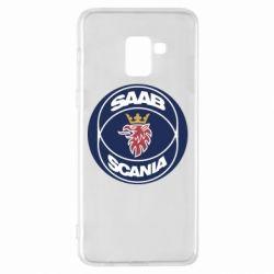 Чехол для Samsung A8+ 2018 SAAB Scania