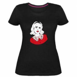 Женская стрейчевая футболка Sabrina art