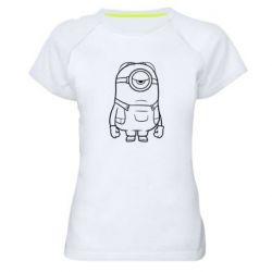 Жіноча спортивна футболка Sad minion
