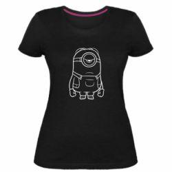 Жіноча стрейчева футболка Sad minion