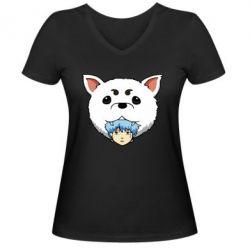 Жіноча футболка з V-подібним вирізом Садахару