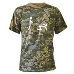 Камуфляжная футболка Садо-мазо - FatLine