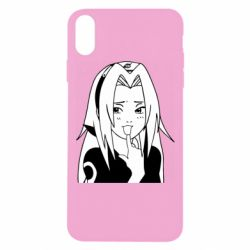 Чехол для iPhone Xs Max Sakura girl