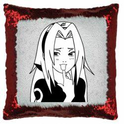 Подушка-хамелеон Sakura girl