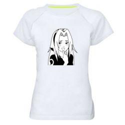 Женская спортивная футболка Sakura girl