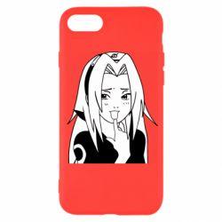 Чехол для iPhone 7 Sakura girl