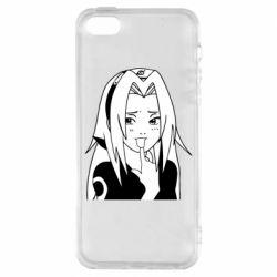 Чехол для iPhone5/5S/SE Sakura girl