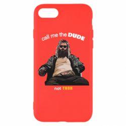 Чехол для iPhone 8 Сall me the DUDE not THOR