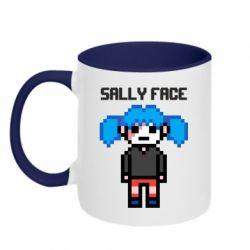 Кружка двоколірна 320ml Sally face pixel