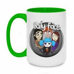 Кружка двухцветная 420ml Sally face soundtrack