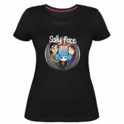 Женская стрейчевая футболка Sally face soundtrack