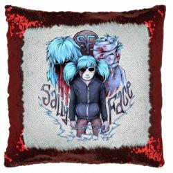 Подушка-хамелеон SallyFace