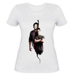 Женская футболка Sam and Dean