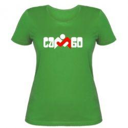 Женская футболка Самбо