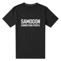 Чоловіча стрейчева футболка Samogon connecting people