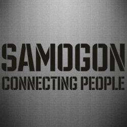 Наклейка Samogon connecting people