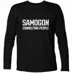 Футболка з довгим рукавом Samogon connecting people