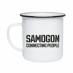Кружка емальована Samogon connecting people