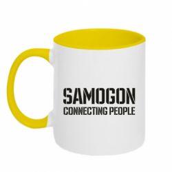 Кружка двоколірна 320ml Samogon connecting people