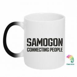 Кружка-хамелеон Samogon connecting people