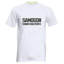 Чоловіча спортивна футболка Samogon connecting people