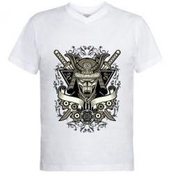 Чоловіча футболка з V-подібним вирізом Samurai