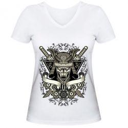 Жіноча футболка з V-подібним вирізом Samurai