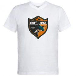 Мужская футболка  с V-образным вырезом San Jose Sharks