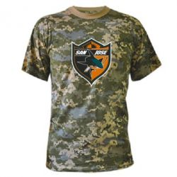 Камуфляжная футболка San Jose Sharks