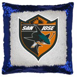 Подушка-хамелеон San Jose Sharks