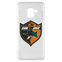 Чохол для Samsung A8 2018 San Jose Sharks